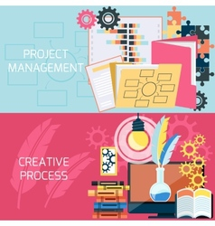 Flat design of project management vector image