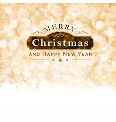 Merry Christmas Typography with blinking vector image vector image