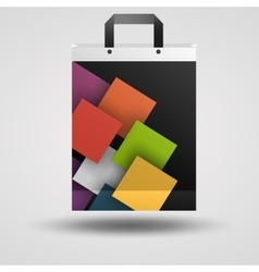 Modern business bag template vector image
