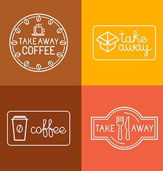 set of linear labels vector image vector image