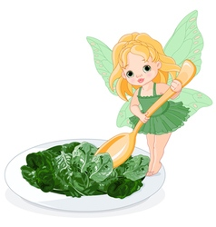 Spinach Fairy vector image