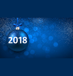 blue shining 2018 new year background vector image