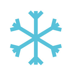 christmas blue snowflake snow decoration winter vector image