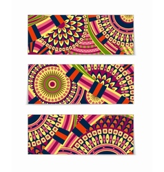 Colorful Tribal Ethnic Theme Banner Design vector image vector image