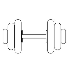 Dumbbell the black color icon vector