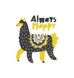 always happy lama vector image