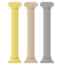 Antique column 02 vector