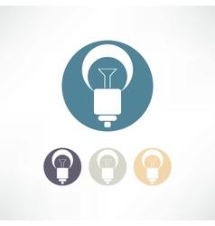 Bulbs icon vector image vector image