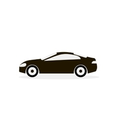 Car White Black Icon vector image vector image