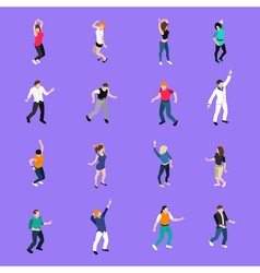 Dancing People Movements Isometric Icons vector image vector image