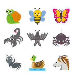 funny animal insert cartoon vector image vector image
