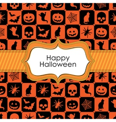 halloween wrapping vector image vector image