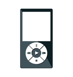 mp3 player isolated icon vector image vector image