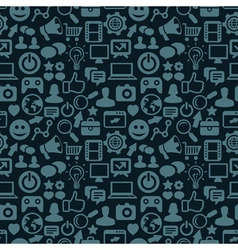 seamless pattern with social media icons - vector image vector image