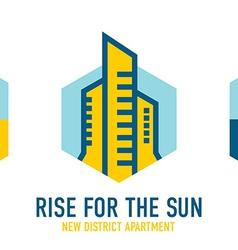 Skyscrapers logo template Real estate company vector image
