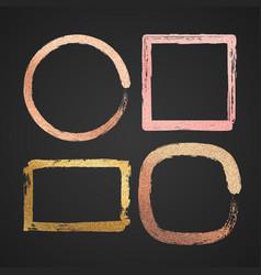 abstract gold and pink metal glossy border vector image vector image