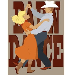 Barn dance vector image