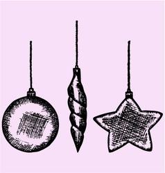 Christmas bauble vector