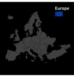 Detailed map of Europe Political map with borders vector image