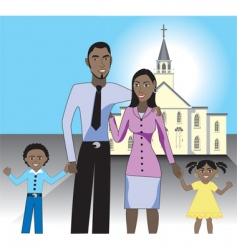 family church vector image
