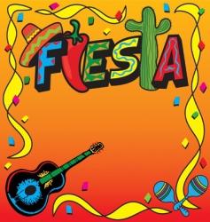 mexican fiesta party invitation vector image
