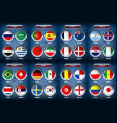 national flag soccer group vector image