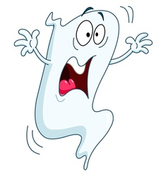 scared ghost vector image vector image