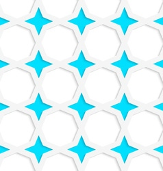 White 3D with colors blue stars vector image vector image