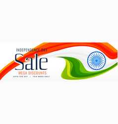15th august indian independence day sale banner vector image