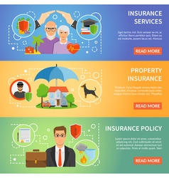 1608i124010Sm004c11insurance flat banners vector