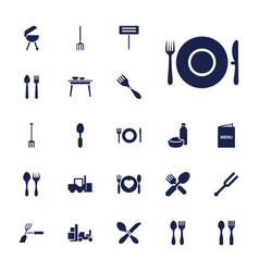 22 fork icons vector