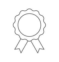 Achievement badge icon on white vector