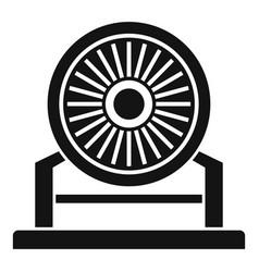 Aircraft repair turbine icon simple style vector