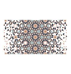 Arabic modern border pattern vector