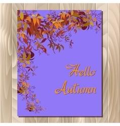 Autumn grape vine vector