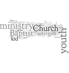 Baptist church youth activities vector