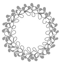 Black and white laurel wreath frame isolated vector