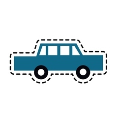 Blue car icon vector
