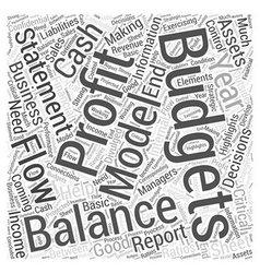 Budgeting Word Cloud Concept vector image