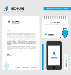 business letterhead calendar 2019 and mobile app vector image