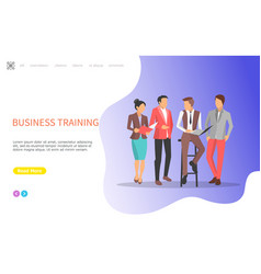 business training seminars with workers vector image