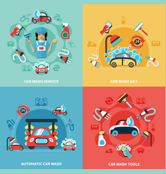 Car wash compositions set vector