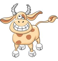 Cartoon funny cow smile vector