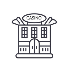 casino building concept thin line icon vector image