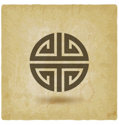 chinese symbol shou on vintage background vector image