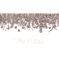 christmas festive vintage background vector image