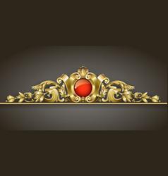classic gold ornament vector image