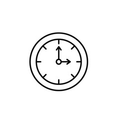 clock line icon black vector image