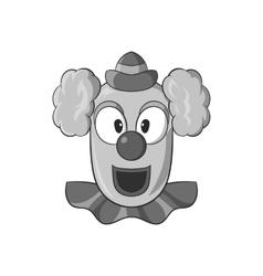 Clown face icon black monochrome style vector