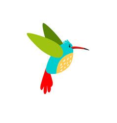 colibri cartoon bird icon vector image